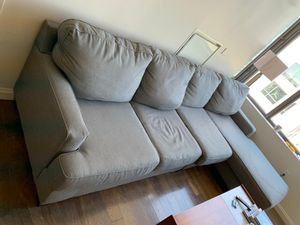 Grey Comfy Couch $300 for Sale in Boston, MA