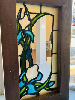 Vintage Colored Glass Accent Mirror for Sale in Lemont,  IL