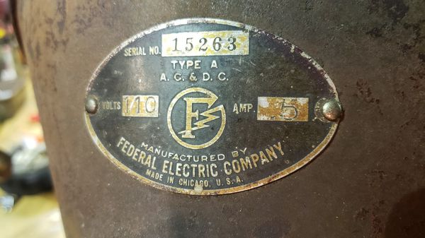 Vintage Federal Electric Company Siren