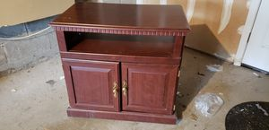 Cherry Wood TV Stand With Cabinet for Sale in Mount Olive Township, NJ