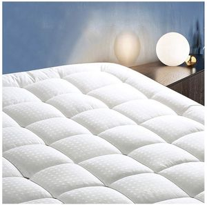 "Cottonhouse King Size Mattress Pad Pillow Topper Cooling Soft Cotton Top Bed Cover with Deep Pocket Fits Up to 21"" Quilted Fitted Mattress Topper for Sale in West Covina, CA"