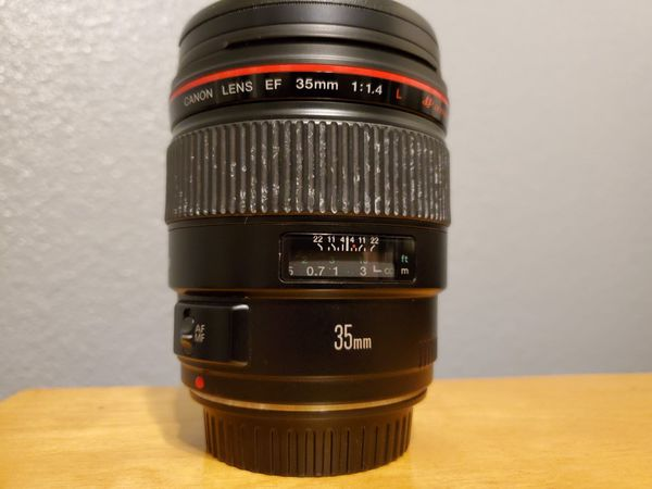 Canon EF 35mm 1.4 L series prime lens