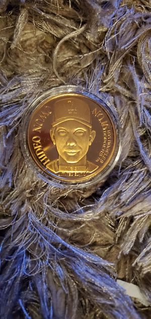 Hideo Nomo Dodgers Limited Edition Fine Bronze Coin 1995 for Sale in Alhambra, CA