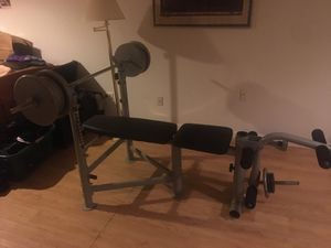 Bench press with legs lift extension for Sale in Addison, IL