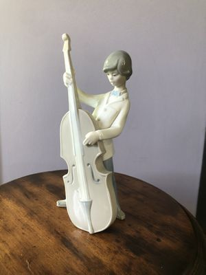 "Lladro Boy with double bass. 9"" tall for Sale in Yonkers, NY"
