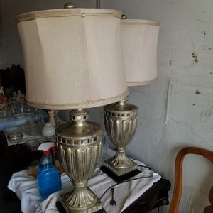2 vintage ceramic and mirror lamps for Sale in Pompano Beach, FL