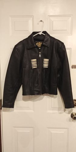 Women's Force Leathers Indian Beaded Motorcycle Jacket for Sale in Marietta,  GA