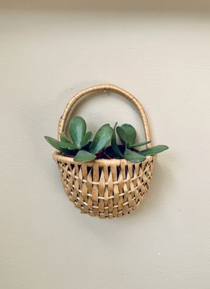 Wicker Weaved Planter Pot Plant Holder Hanging Wall Basket Bohemian Chic Boho Decor Basket for Sale in Grand Rapids, MI