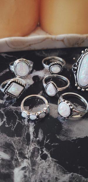 Pretty Faux Opal Ring Set for Sale in Tempe, AZ