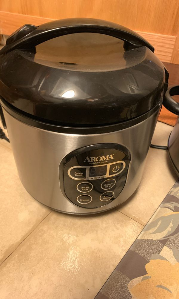 Brand new rice cooker and crock pot!