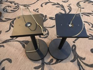 Pair bookshelf speaker/ studio monitor stands - black pedestal for home theater for Sale in Westminster, CA