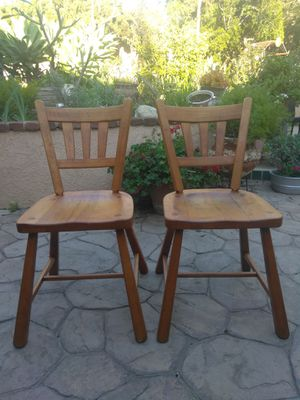 Two vintage wood desk chairs for Sale in La Habra, CA