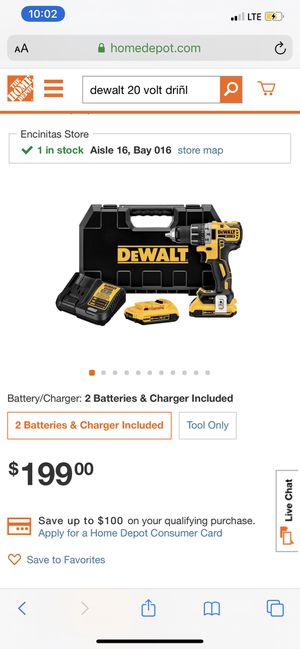 DeWALT drill set with two batteries brand new for Sale in Chula Vista, CA