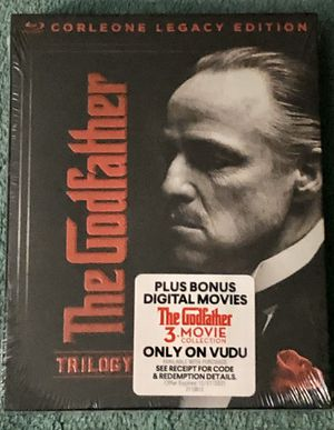 THE GODFATHER TRILOGY CORLEONE LEGACY EDITION BLU-RAY + DIGITAL SEALED for Sale in Countryside, IL