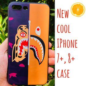 New cool iphone 7+ or iphone 8+ PLUS case rubber bape aape wgm shark hypebeast hype swag men's women's for Sale in San Bernardino, CA