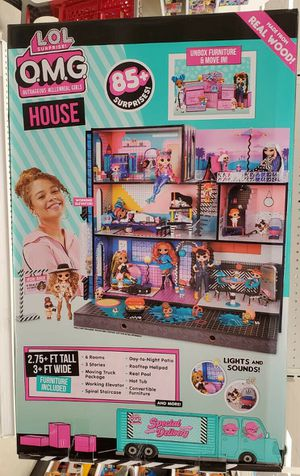 NEW L.O.L. Surprise! O.M.G. House – Real Wood Doll House with 85+ Surprises for Sale in Washington, DC