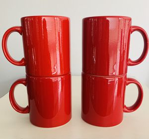 """Vintage Waechtersbach Germany Ceramic set of 4 bright red 13 ounce mugs. 3 3/4"""" tall Beautiful condition with no chips cracks or damage. for Sale in Lakewood, WA"""