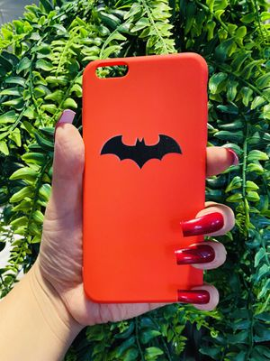 Brand new cool iphone 6+ PLUS case cover rubber silicone Batman red mens womens guys boys for Sale in San Bernardino, CA