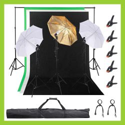 """(BRAND NEW) 3 Point, 33"""" Umbrella Studio Lighting Kit with Backdrops For Commercial or Residential Use for Sale in Chino,  CA"""