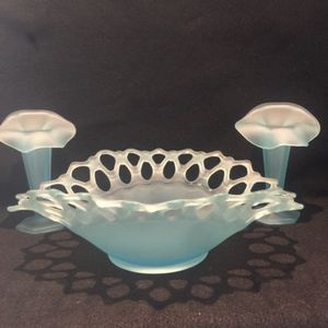 westmoreland consol and candle holders for Sale in Glendora, CA