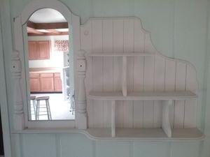 Wall shelf with mirror. for Sale in Cheboygan, MI