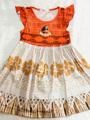 4t and 6t orange elastic Moana dress $20 each for Sale in Chula Vista, CA