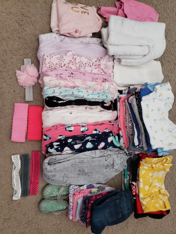 6- 9 months baby girl bundle [60 pieces]