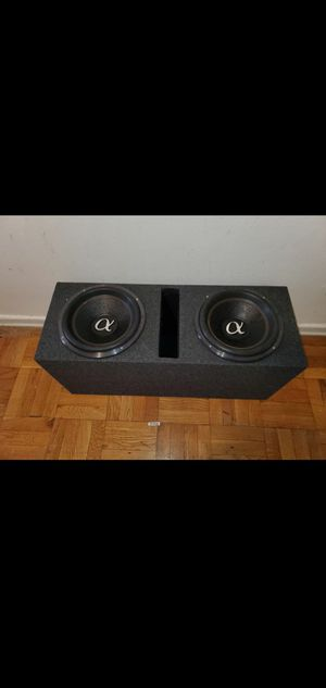"""12"""" ALPHASONIK VENUM SUBWOOFERS 1200W RMS 3600WATTS MAX EACH SUBWOOFER GIVING YOU 7200WATTS MAX for Sale in The Bronx, NY"""