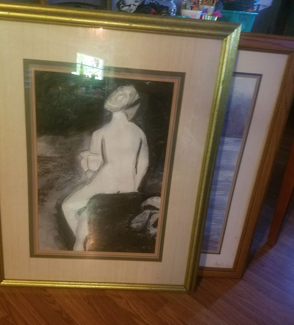 two art paintings for $ 20 43x35._ 28 x 34