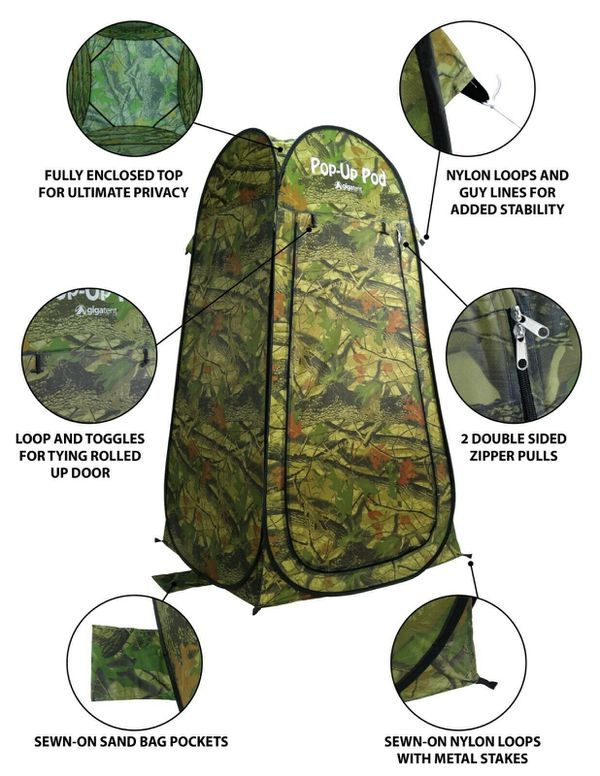 NEW Outdoor Changing Room Beach Shower Restroom Camo Portable Pop Up Tent Camping Hiking