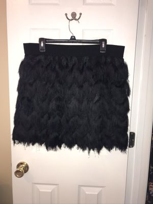 Banana Republic fringe skirt (XL) black for Sale in Indian Trail, NC