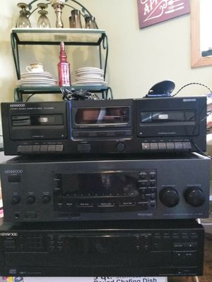 KenWood two receivers and stereo system for Sale in Warren, MI