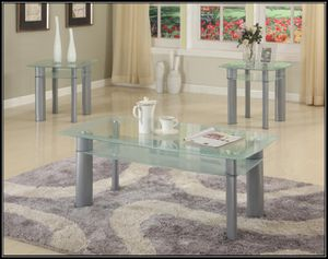 Glass white coffee table for Sale in Rockville, MD