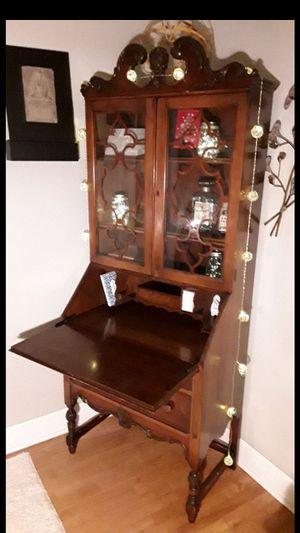 Solid wood antique secretary/hideaway desk for Sale in Skokie, IL