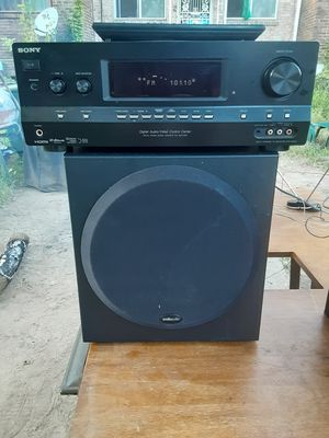 625 watts Sony HDMI receiver with remote plus Sony tower Speakers and Polk Audio subwoofer PSW202 for Sale in Washington, DC