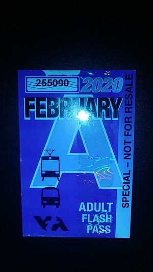 FEBRUARY 2020 VTA MONTH PASS for Sale in Gilroy, CA