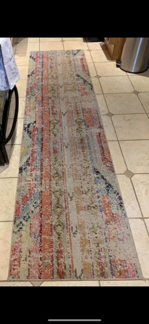 """[USED] """"muted/fade-out"""" style runner rug for Sale in Washington, DC"""