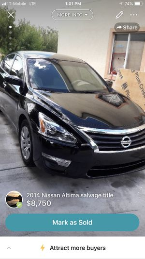 2014 Nissan Altima salvage title for Sale in West Valley City, UT