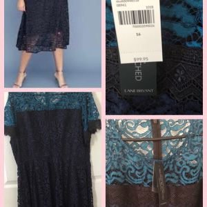 Brand new Lane Bryant Women's Colorblock Lace Midi Dress size 16 (pick up only) Please don't bother giving ridiculous offers. for Sale in Alexandria, VA