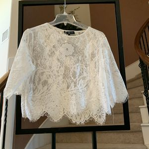 NEW white lace crop top- size XL for Sale in Cypress, TX