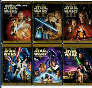 Star wars box set bottom 12 disk han shoots first 300 for Sale in El Cajon, CA