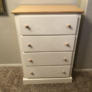 White Two Toned Dresser 4 Drawer Chest Of Drawers for Sale in Gilbert, AZ