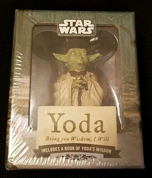 2010 STAR WARS Yoda Bring You Wisdom, I Will • WITH A BOOK OF YODA'S WISDOM for Sale in Las Vegas, NV