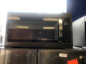 """30"""" new whirlpool stainless steel microwave over the range with one year warranty for Sale in Woodbridge, VA"""