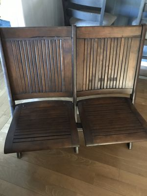 Antique theater wooden chair for Sale in Fresno, CA