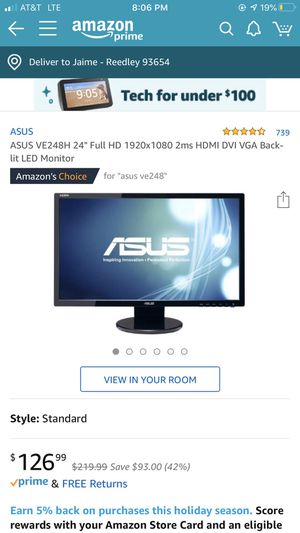 Asus Computer Monitor for Sale in Reedley, CA