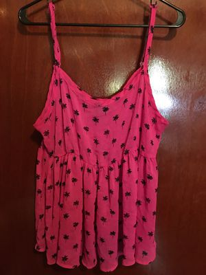 pink palm tree babydoll top for Sale in Hoosick Falls, NY