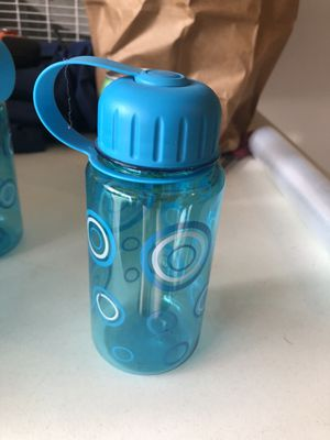 * To-go water bottle small 12 ounces. Blue. Plastic. Different styles for Sale in Orlando, FL