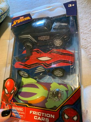 Spiderman friction cars - set of 3 for Sale in Phoenix, AZ