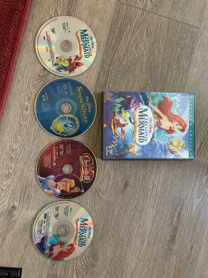 4 Disney princess movies DVD for Sale in Fresno, CA
